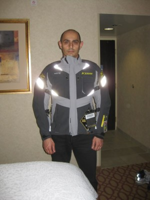 Wearing my new super jacket, Badlands Pro for the first time