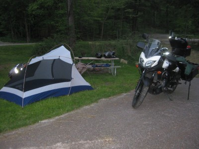 First campsite at Allegany State Park