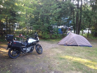 Rivermouth campsite at Tahquanemon state park