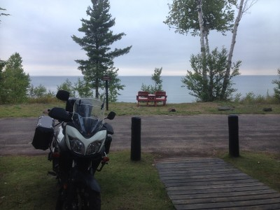 View of Lake Superior from the cabin