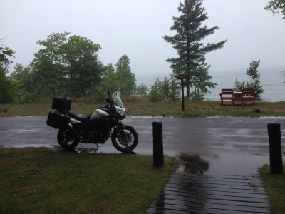 Back to the cabin and still raining!