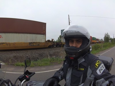 waiting for a very long train to pass by