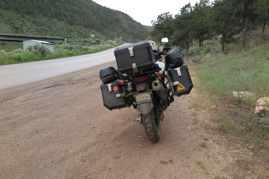 got dirty after riding in rain in a dirt road